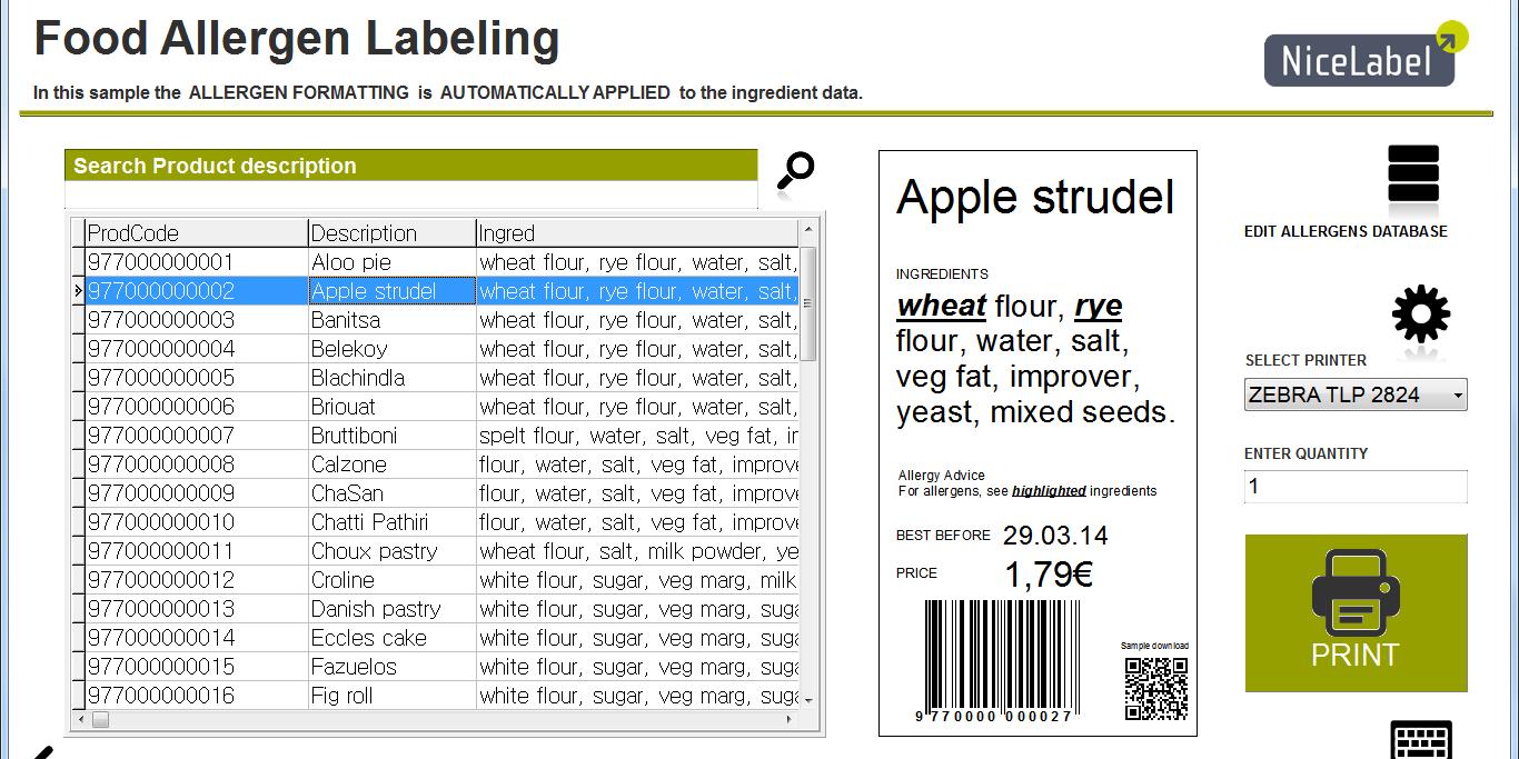 Nařízení EU o značení alergenů na etiketách potravin? Máme řešení!
