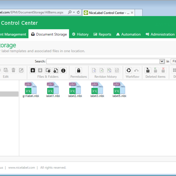 Software NiceLabel Label Management System