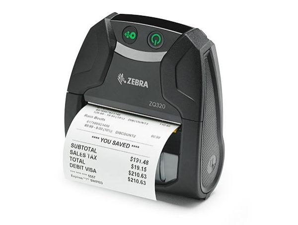 Mobilní tiskárna etiket Zebra ZQ320 outside